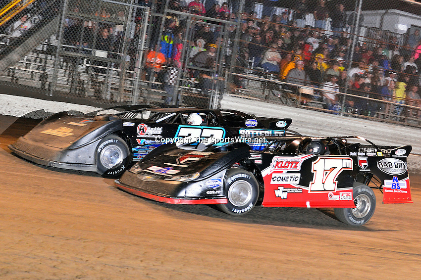 Feb 20, 2014; 9:41:52 PM;  Barberville, FL, USA;  World of Outlaws Late Model Series for 43rd Annual DIRTcar Nationals presented by Summit Racing Equipment at Volusia Speedway Park.  Mandatory Credit: (thesportswire.net)