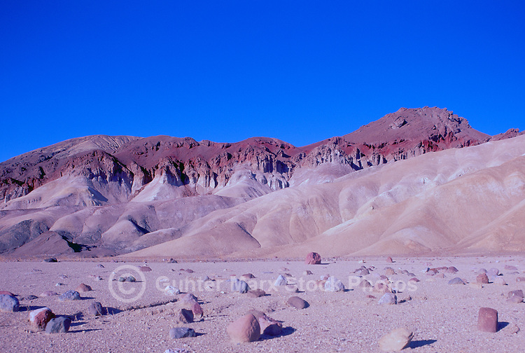 Death Valley National Park, California, CA, USA - the Black Mountains near Golden Canyon
