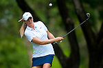 CHON BURI, THAILAND - FEBRUARY 19:  Amanda Blumenherst of USA chips into the 1st green  during day three of the LPGA Thailand at Siam Country Club on February 19, 2011 in Chon Buri, Thailand.  Photo by Victor Fraile / The Power of Sport Images