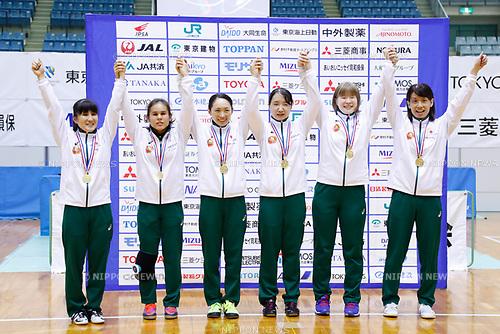 Japan team group (JPN), <br /> AUGUST 6, 2017 - Goalball : <br /> 2017 Japan Para Championships Goalball <br /> Award ceremony <br /> at Chiba port arena, Chiba, Japan. <br /> (Photo by Yohei Osada/AFLO SPORT)