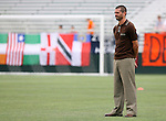 15 July 2007: Carolina head coach Scott Schweitzer.  The United Soccer League Division 1 Carolina Railhawks defeated Major League Soccer's Chicago Fire 1-0 in a Third Round Lamar Hunt U.S. Open Cup game at SAS Stadium in Cary, North Carolina.