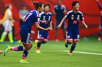 VANCOUVER, CANADÁ, 05.07.2015 - EUA-JAPÃO - Yuki Ogimi do Japão comemora seu gol durante partida contra os Estados Unidos jogo válido pela final da Copa do Mundo de Futebol Feminino no Estádio BC Place em Vancouver  no Canadá neste domingo, 05. (Foto: William Volcov/Brazil Photo Press)