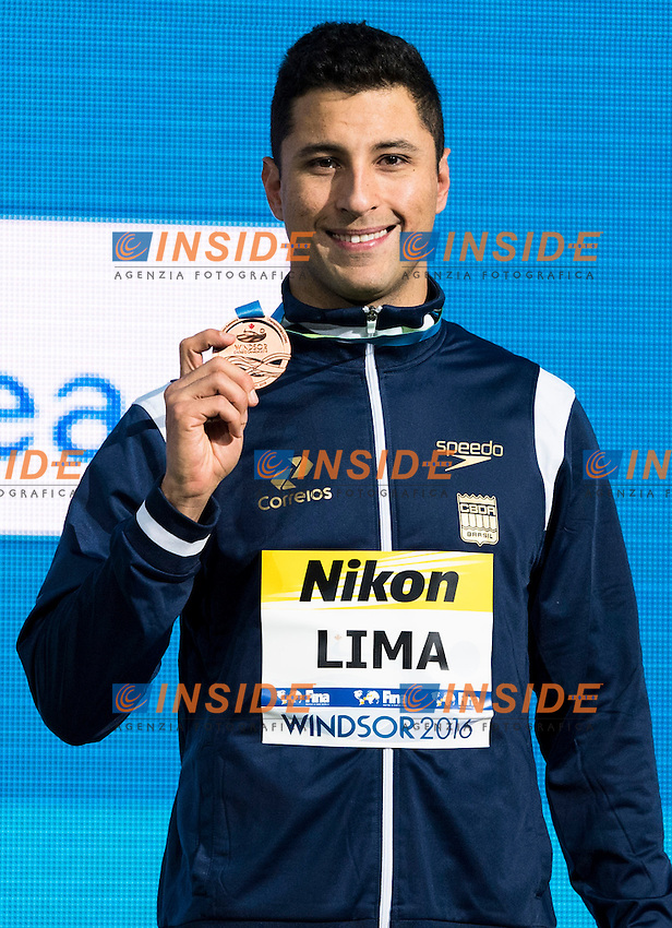 LIMA Felipe BRA Bronze Medal<br /> Men's 50m Breaststroke<br /> 13th Fina World Swimming Championships 25m <br /> Windsor  Dec. 11th, 2016 - Day06 Finals<br /> WFCU Centre - Windsor Ontario Canada CAN <br /> 20161211 WFCU Centre - Windsor Ontario Canada CAN <br /> Photo &copy; Giorgio Scala/Deepbluemedia/Insidefoto