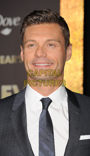 "Ryan Seacrest.The World Premiere of ""New Year's Eve' held at The Grauman's Chinese Theatre in Hollywood, California, USA..December 5th, 2011.headshot portrait black white tie smiling .CAP/ROT/TM.©Tony Michaels/Roth Stock/Capital Pictures"