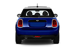 Straight rear view of 2019 MINI Hardtop-4-Door Cooper-Signature 5 Door Hatchback Rear View  stock images