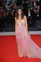 VENICE, ITALY - SEPTEMBER 05: Alessandra Mastronardi walks the red carpet ahead of the Gloria Mundi screening during the 76th Venice Film Festival at Sala Grande on September 05, 2019 in Venice, Italy. (Photo by Mark Cape/Insidefoto)<br /> Venezia 05/09/2019