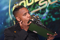 20170208 – LINT ,  BELGIUM : Jose Izquierdo pictured during the  63nd men edition of the Golden Shoe award ceremony and 1st Women's edition, Wednesday 8 February 2017, in Lint AED studio. The Golden Shoe (Gouden Schoen / Soulier d'Or) is an award for the best soccer player of the Belgian Jupiler Pro League championship during the year 2016. The female edition is a first in Belgium.  PHOTO DIRK VUYLSTEKE | Sportpix.be