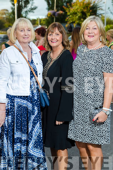 Maureen Bromfield (Kent) with Patsy Power and Catherine Daly (Tralee) at the Rose of Tralee fashion show at the dome on Sunday night.
