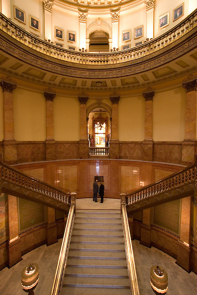 Legislators in the Colorado State Capitol with Greek Corinthian Architecture in Denver, Colorado. .  John offers private photo tours in Denver, Boulder and throughout Colorado. Year-round Colorado photo tours.