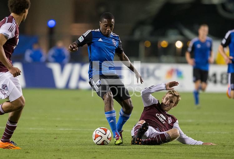 Santa Clara, California - May 7, 2014: The San Jose Earthquakes face off against the Colorado Rapids at Buck Shaw Stadium on Wednesday.