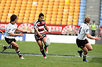 Niva Ta'auso chips the ball through the Hawkes Bay defence during the Air New Zealand Cup rugby game between Counties Manukau & Hawkes Bay played at Mt Smart Stadium, 30th of September 2006. Hawkes Bay won 30 - 29.