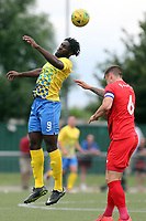 Christian Adu-Gyamfi of Harlow Town and Josh Coulson of Leyton Orient during Harlow Town vs Leyton Orient, Friendly Match Football at The Harlow Arena on 6th July 2019