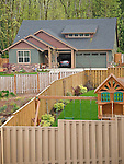 Grace Circle, Happy Valley, Oregon. Residential fences