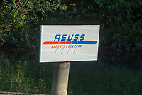 "Lucerne, SWITZERLAND, 12th July 2018, Friday  Signage,   Seeclub ""Luzern"", ""Reuss Ruder Club, Luzern"" ""Lake Lucerne',  Photographer, Karon PHILLIPS,"