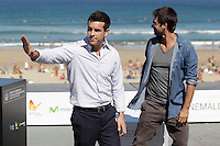 "Actors Hugo Silva (R) and Mario Casas (L) posse during the presentation of ""Las brujas de Zugarramurdi"" in the 61 San Sebastian Film Festival, in San Sebastian, Spain. September 22, 2013. (ALTERPHOTOS/Victor Blanco) /NortePhoto"