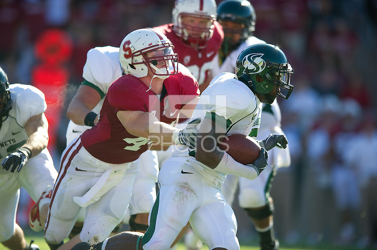 STANFORD, CA - September 4:  Chase Thomas during a football game against Sacramento State, September 4, 2010 in Stanford, California. Stanford won 52-17.