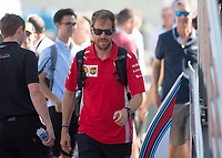SEBASTIAN VETTEL (GER) of Scuderia Ferrari during The Formula 1 2018 Rolex British Grand Prix at Silverstone Circuit, Northampton, England on 8 July 2018. Photo by Vince  Mignott.