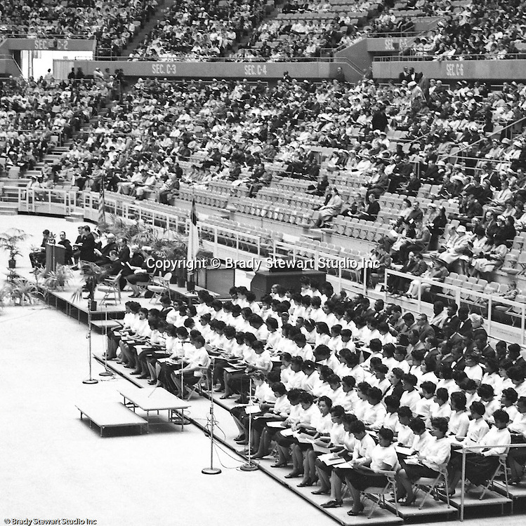 Pittsburgh PA:  View of the choir at the annual Easter Sunrise Services held at the Civic Arena - 1962.  The Council of Churches staged the event that included members of local Catholic, Presbyterian, Lutheran, Baptist and other denominations in the Pittsburgh Area.  This year the the roof was not opened due to weather.<br />