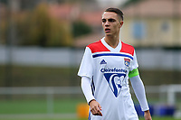 Maxence Caqueret of Olympique Lyonnais during Lyon Under-19 vs Manchester City Under-19, UEFA Youth League Football at Groupama OL Academy on 27th November 2018