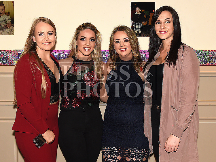 Justine McGuirk celebrating her 21st birthday in the Thatch with college friends Jenny Kiernan, Emma White and Emma Rooney. Photo:Colin Bell/pressphotos.ie
