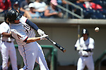 Reno Aces&rsquo; Kyle Jensen hits a home run against the Iowa Cubs at Greater Nevada Field in Reno, Nev., on Tuesday, May 17, 2016. <br />Photo by Cathleen Allison