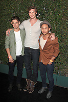Jean-Luc Bilodeau, Derek Theler and Tajh Mowry at the ABC Family West Coast Upfronts party at The Sayers Club on May 1, 2012 in Hollywood, California. © mpi26/MediaPunch Inc.