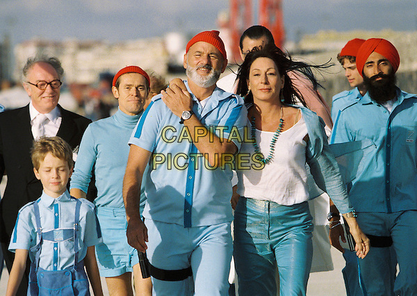 WILLEM DAFOE, BILL MURRAY, ANJELICA HUSTON, MICHAEL GAMBON & WARIS AHLUWALIA.in The Life Aquatic.*Editorial Use Only*.www.capitalpictures.com.sales@capitalpictures.com.Supplied by Capital Pictures.