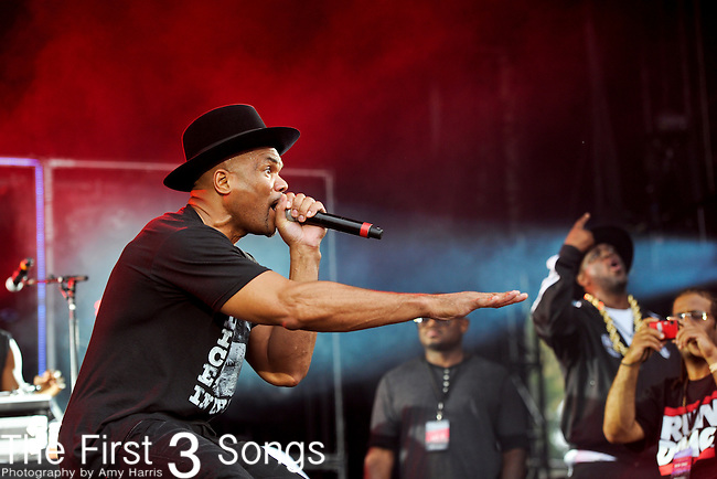 "Darryl ""D.M.C."" McDaniels of Run-DMC performs during Day 2 of the Made in America Music Fesival in Philadelphia, Pennsylvania."
