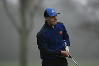 Curtis Knipes (Abridge GC) during the first round of the Peter McEvoy Trophy played at Copt Heath Golf Club, Solihull, England. 11/04/2018.<br /> Picture: Golffile | Phil Inglis<br /> <br /> <br /> All photo usage must carry mandatory copyright credit (&copy; Golffile | Phil Inglis)
