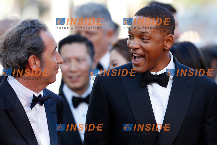 Paolo Sorrentino e Will Smith<br /> Cannes 17-05-2017 70&deg;Edizione Festival del Cinema di Cannes. Cerimonia d'apertura<br /> Foto Panoramic / Insidefoto