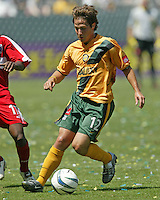 Los Angeles Galaxy Ned Gravaboy against the Chicago Fire at The Home Depot Center, June 12, 2004.