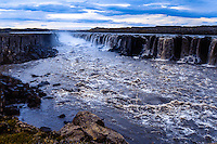 Iceland. Selfoss is a waterfall in Vatnajökull National Park on the Jökulsá á Fjöllum river.
