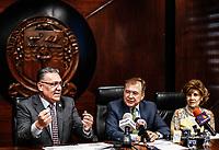 Enrique Velazquez Contreras, rector de la Universidad de Sonora y  Jose Luis Cuevas habla sobre el Ceneval.  10abril2018.  <br /> (Photo:Luis Gutierrez/ NortePhoto.com)<br /> <br /> pclaves:  Universidad de Sonora, UNISON