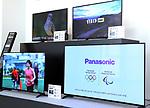 "May 31, 2017, Utsunomiya, Japan - Japan's electronics giant Panasonic's new Organic Light Emitting Diode (OLED) television sets ""Viera"" are displayed at the Panasonic Manufacturing Innovation Center in Utsunomiya , 100km north of Tokyo on Wednesday, May 31, 2017. Panasonic will start to sell 55-inch and 65-inch sized 4K OLED TV series from next month.   (Photo by Yoshio Tsunoda/AFLO) LwX -ytd-"