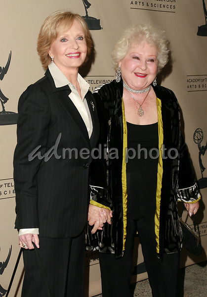 "12 October 2006 - North Hollywood, California - Florence Henderson and Estelle Harris. The Academy Of Television Arts and Sciences celebrates ""60 Years: A Retrospective Of Television and the Television Academy held at the Academy's Leonard H. Goldenson Theatre. Photo Credit: Charles Harris/AdMedia"
