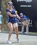 Elena Vesnina (RUS) plays against Jana Cepelova (SVK)at the Family Circle Cup in Charleston, South Carolina on April 3, 2014.