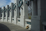 Washington D. C., World War II Memorial, pillars
