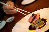 Vancouver, BC, Canada, August 2006. Shiru Bay is an 'Izakaya' chopstick bar where the Sake rice wine flows generously. Squeezed in between the Rocky Mountains and the Pacific Ocean, Vancouver has a special feel. Photo by Frits Meyst/Adventure4ever.com