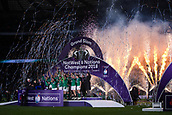 17th March 2018, Twickenham, London, England; NatWest Six Nations rugby, England versus Ireland; Fireworks go off as Ireland celebrate winning the Grand Slam and Six Nations Champsionship