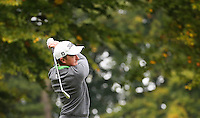 Paul Dunne (IRL) in action from the 12th tee during the Final Round of the British Masters 2015 supported by SkySports played on the Marquess Course at Woburn Golf Club, Little Brickhill, Milton Keynes, England.  11/10/2015. Picture: Golffile | David Lloyd<br /> <br /> All photos usage must carry mandatory copyright credit (© Golffile | David Lloyd)