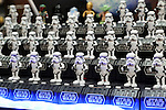 "September 8, 2016, Tokyo, Japan - Japanese toy maker Tomy displays dancing figurine toy characters of ""Star Wars Space Opera"" at a two day toy exhibition in Tokyo on Thursday, September 8, 2016.    (Photo by Yoshio Tsunoda/AFLO)"