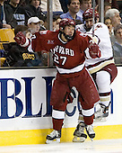 Kevin Du (Harvard University - Spruce Grove, AB), Carl Sneep (Boston College - Nisswa, Minnesota) - The Boston College Eagles defeated the Harvard University Crimson 3-1 in the first round of the 2007 Beanpot Tournament on Monday, February 5, 2007, at the TD Banknorth Garden in Boston, Massachusetts.  The first Beanpot Tournament was played in December 1952 with the scheduling moved to the first two Mondays of February in its sixth year.  The tournament is played between Boston College, Boston University, Harvard University and Northeastern University with the first round matchups alternating each year.