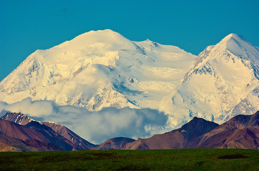 Mt. McKinley and the Alaska Range viewed from Denali National Park, Alaska
