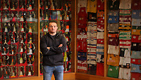 Pictured: Ken Owens at Carmarthen Athletic, Wednesday 26 April 2017<br /> Re: Interview with British Lions rugby player Ken Owens in Carmarthen, Wales, UK