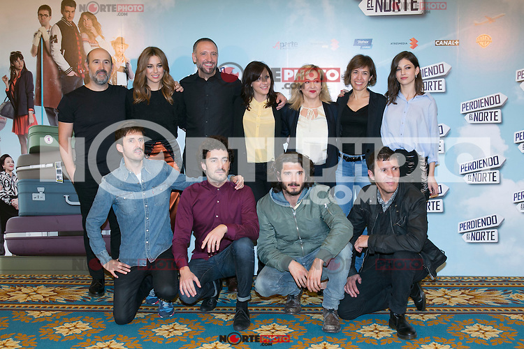"""Crew of the Movie attending the """"Perdiendo El Norte"""" Movie Presentation at Intercontinental Hotel, Madrid,  Spain. March 03, 2015.(ALTERPHOTOS/)Carlos Dafonte) /NORTEphoto.com"""