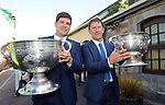 27-9-2014:  Senior trainer  Eamonn Fitzmaurice and minor trainer Jack O'Connor at the Kerry Team homecoming in Rathmore, County Kerry last evening.<br /> Picture by Don MacMonagle