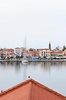 The port of Mytilene, Lesbos, Greece