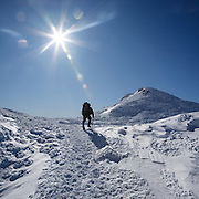 This is the image for February in the 2017 White Mountains. A winter hiker near Mount Monroe in the Presidential Range. The calendar can be purchased here: http://bit.ly/220sKru