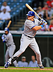 13 September 2008: Kansas City Royals' outfielder Mitch Maier in action against the Cleveland Indians at Progressive Field in Cleveland, Ohio. The Royals defeated the Indians 8-4 in the second game, sweeping their double-header...Mandatory Photo Credit: Ed Wolfstein Photo