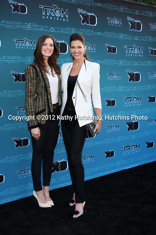 """LOS ANGELES - MAY 12:  Mandy Moore, Tricia Helfer arrives at the Disney XD's """"TRON: Uprising"""" Press Event and Reception at DisneyToon Studios/Disney Television Animation on May 12, 2012 in Glendale, CA"""
